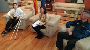 Carolina Marín, María José Rienda y Fernando Rivas, en el Consejo...