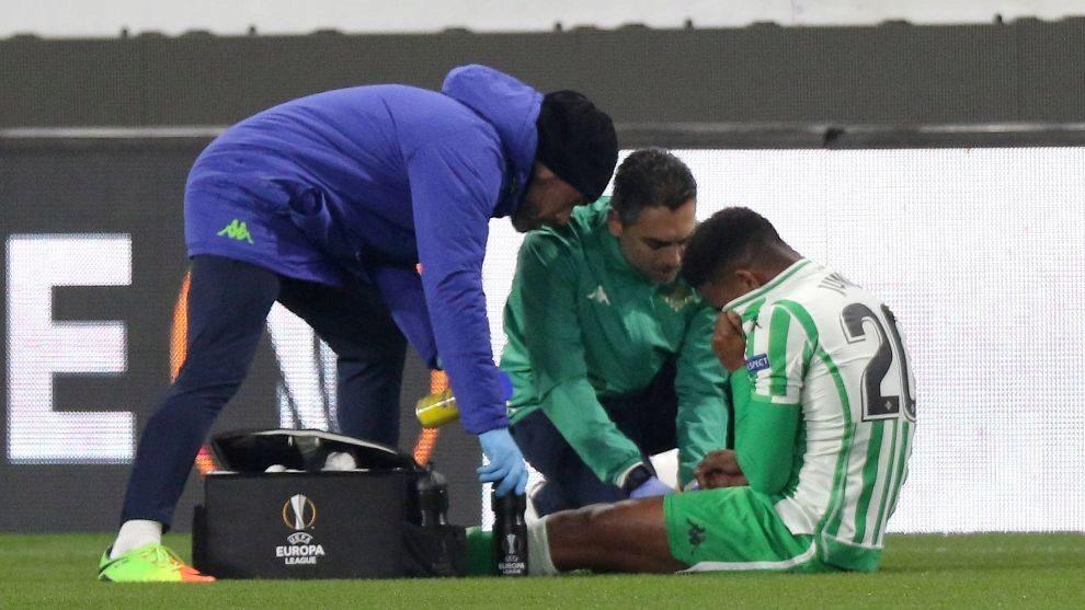 Junior, tras lesionarse en Rennes