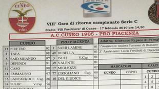 La ficha del 20-0 ante el Cuneo