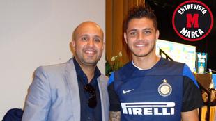 Abian Moreno took  Mauro Icardi to Barcelona and Inter.