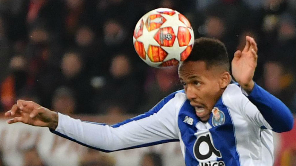 Militao heads clear.
