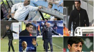 Algunos de los entrenadores con los que hablará el Extremadura