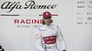Antonio Giovinazzi, en la presentación del Alfa Romeo Racing C38.