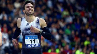 Óscar Husillos, en el Campeonato de España