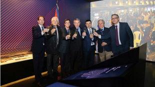 Inauguración del Espacio Peñas en el Museo del FC Barcelona