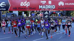 Imagen del maratón de Madrid 2016.