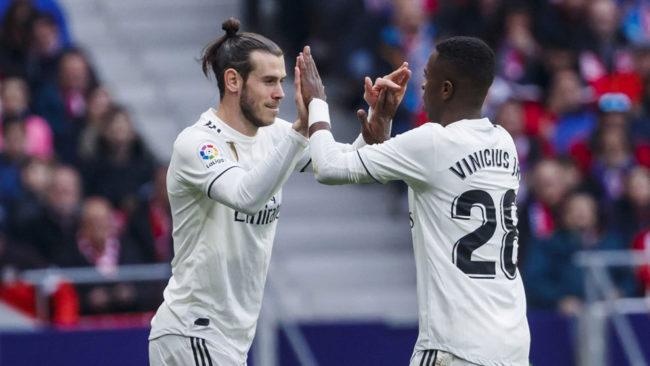 Bale and Vinícius during a match.
