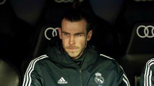 Bale, en el banquillo el pasado domingo ante el Girona.
