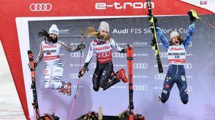 Diversión en el podio femenino del City Event de Oslo