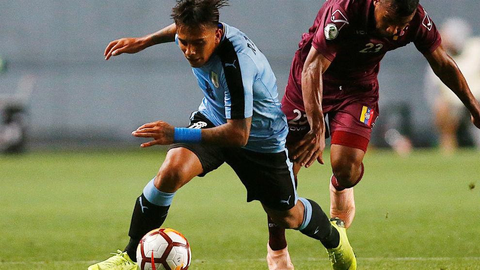 Rodrigo, en un Uruguay-Venezuela del pasado Sudamericano Sub 20.