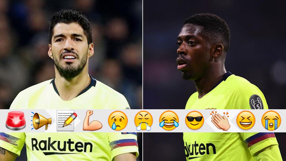 Luis Suárez y Dembéle, contra el Lyon