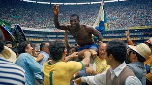 Pelé conquistó el Mundial de México 1970.