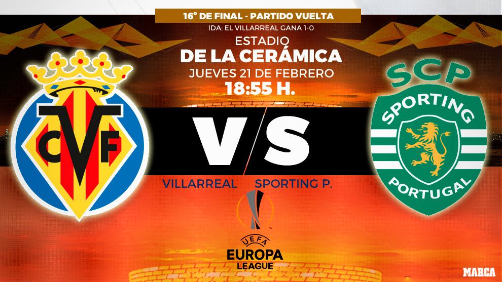 Villarreal - Sporting de Portugal - 21/02/2019 - 18:55 - Europa League