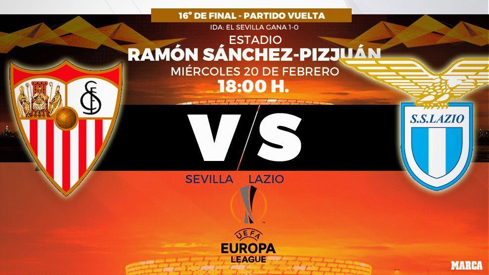 Sevilla vs Lazio - 20/02/2019 - 18:00 horas - Europa League