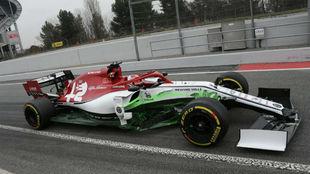 Kimi Raikkonen, en el circuito de Barcelona.