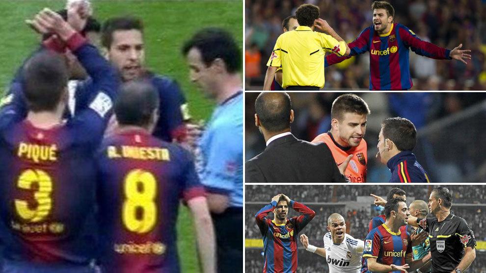 Gerard Piqué atacó al Real Madrid por sus quejas arbitrales