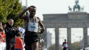 Kenenisa Bekele, en el maratón de Berlín