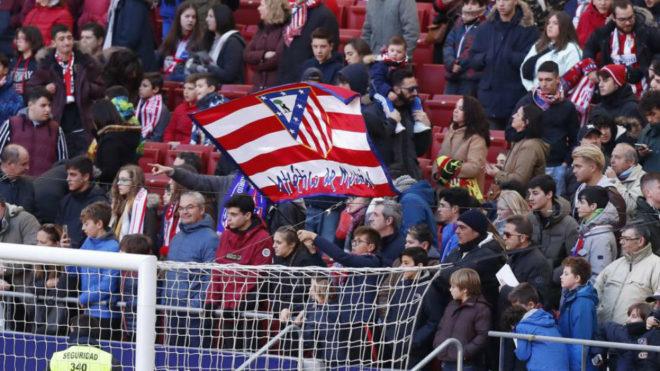 Atletico's fans at the Wanda Metropolitano.