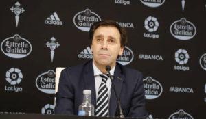 Felipe Miñambres, director deportivo del Celta.