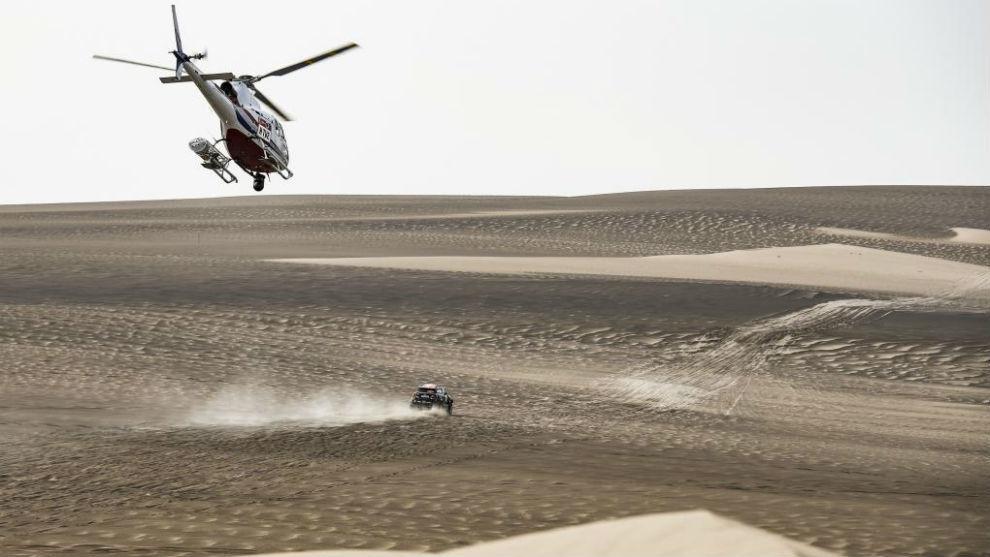 Yazeed Al-Rahji, en el Dakar 2019.