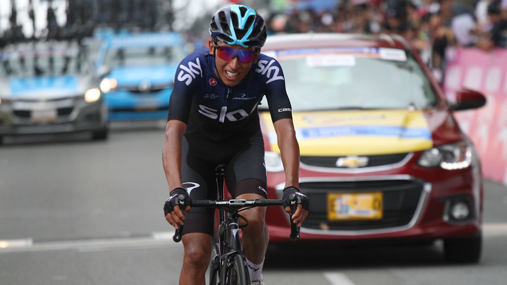 Egan Bernal, el domingo en el alto de Las Palmas, final del Tour...