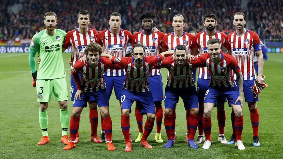 Atletico Madrid's starting XI vs Juventus.
