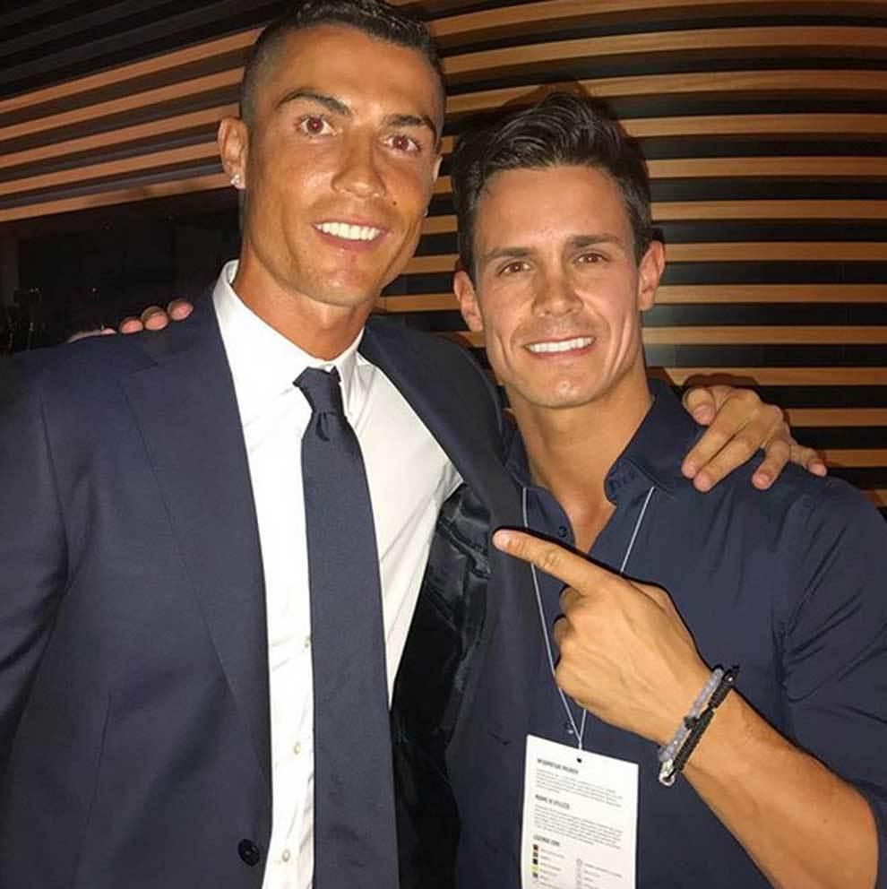 Cristiano Ronaldo y Edu Aguirre