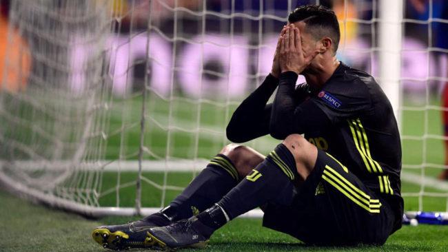 Cristiano Ronaldo, tras una ocasión fallada contra el Atlético