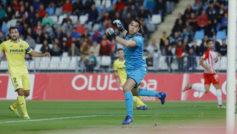 Andrés, durante un partido con el Villarreal.