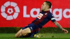 Rubén Peña celebra un gol frente al Girona.