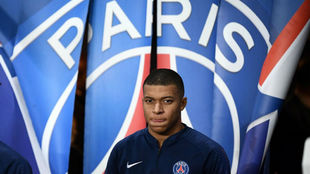 PSG forward Kylian Mbappé at the Parc des Princes.