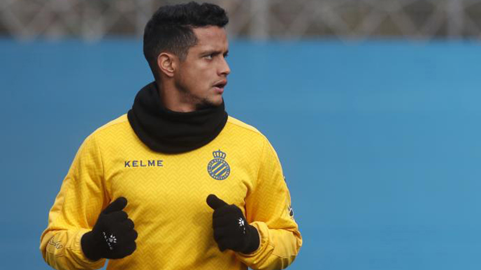 Rosales in training with Espanyol.