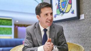 Jesús Olmo, durante la charla con MARCA en el hotel Eurobuilding.