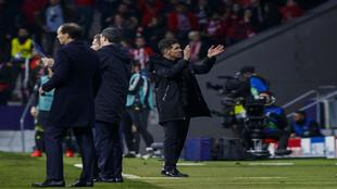 Diego Simeone during the game against Juventus on Wednesday night.