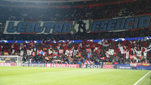 A tifo reading 'Loyalty' and 'Essence' in the...