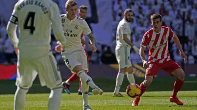Pere Pons, en el último partido liguero ante el Real Madrid.