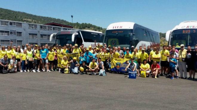 Desplazamiento de aficionados del Villarreal