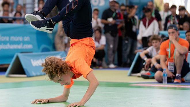 Imagen de la competición de Break Dance en los Juegos de la Juventud.