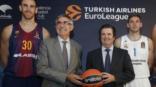 Jordi Bertomeu en la presentación de la Euroliga 2017-18
