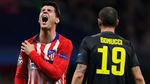 Morata terminó el partido ante la Juve... ¡con un esguince en el hombro!