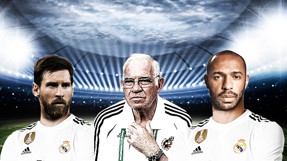 Messi, Luis Aragones and Henry.