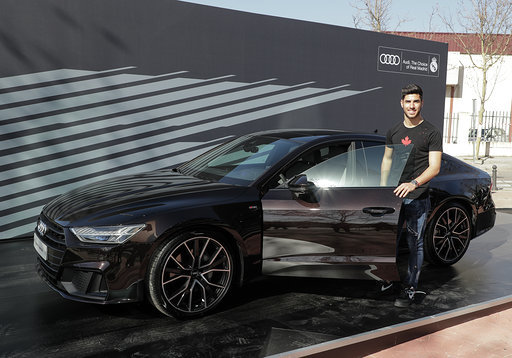 Marco Asensio with the A7 Sportback 50 TDI