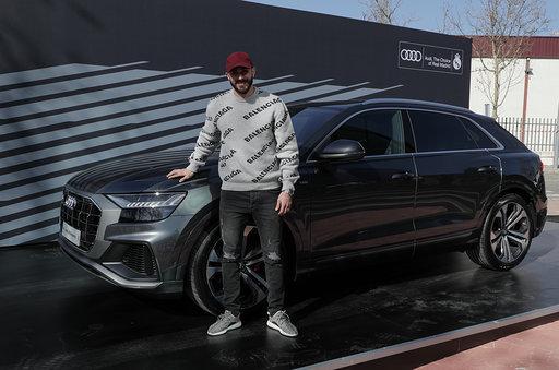 Karim Benzema with the Q8 50 TDI quattro tiptronic