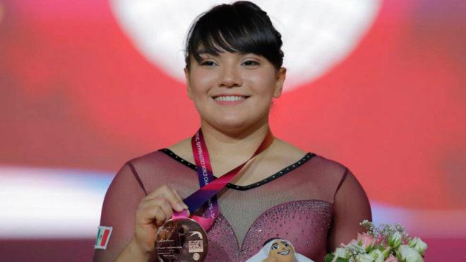 La gimnasta mexicana busca sumar más puntos rumbo a Tokyo 2020