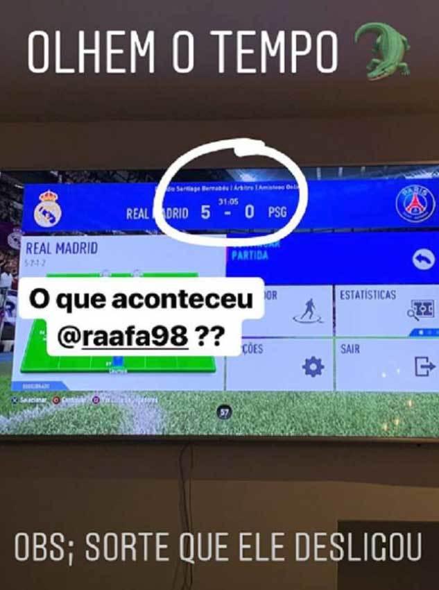 El 5-0 de Vinícius al PSG jugando al FIFA