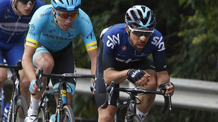Jonathan Castroviejo, en acción durante el Tour Colombia 2019.