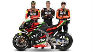 Iannone, Smith y Aleix Espargaró.