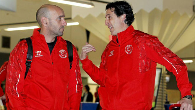 Monchi and Emery together during their time at Sevilla.