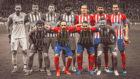 Once del Atlético ante la Juventus.