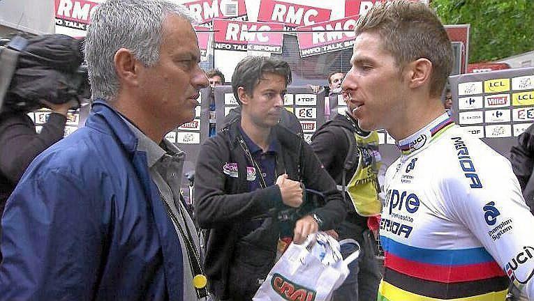 Jose Mourinho en el Tour de Francia invitado por el campeón del mundo, <HIT>Rui</HIT><HIT>Costa</HIT>